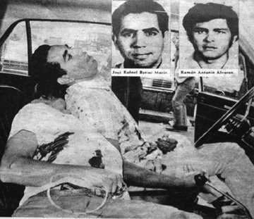 Jose R  Botini y Ramon A. Alvarez,  del grupo Punto Cero acribillados por los esbirros de la DISIP venezolana en 1972 en la epoca  que  Posada Carriles era alto oficial de ese organo.