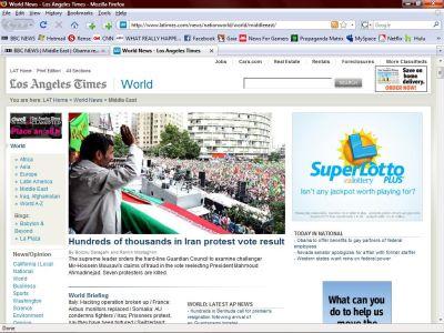The Los Angeles Times en primera plana-fidelvasquez
