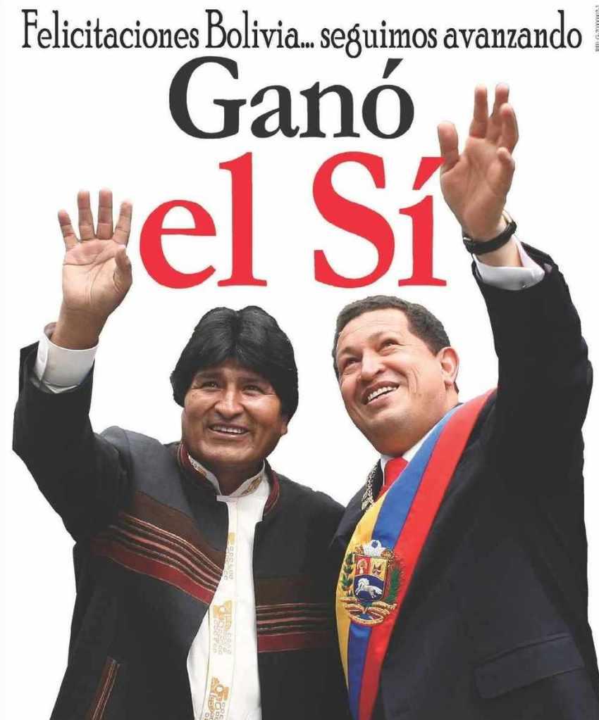 bolivia gano el si- Fidel Ernesto Vásquez