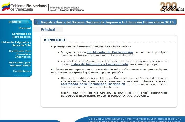 RUSNIES: ACTIVADA LA PAGINA PARA OBTENER COPIA DE SU REGISTRO ...