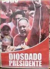 Afiche realizado por la oposición golpista en contra del compatriota Diosdado Cabello