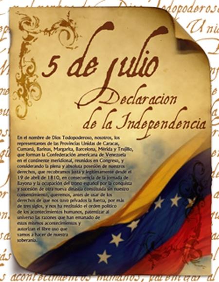 Acta 5 de Julio de 1810-Fidel Ernesto Vasquez