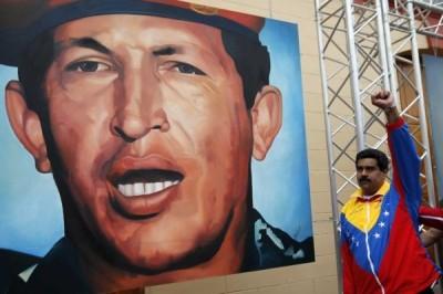 Hugo Chavez-Nicolas Maduro-Fidel Ernesto Vasquez