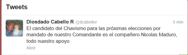 twitter Diosdado Cabello-Fidel Ernesto Vasquez