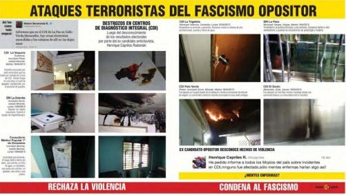 Ataques terroristas del fascismo opositor-Fidel Ernesto Vasquez