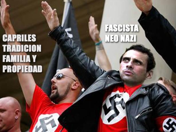 Capriles fascista-Fidel Ernesto Vasquez