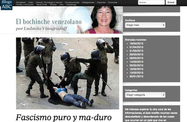 Grafica colocada por Ludmila Vinogradoff-Fidel Ernesto Vasquez
