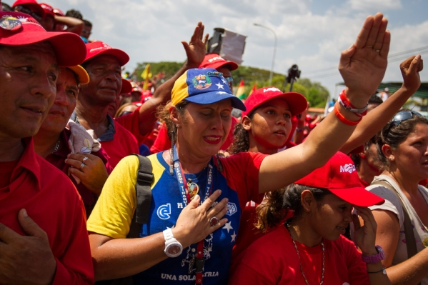 ACTO DE LA CAMPA—A ELECTORAL DE NICOL¡S MADURO