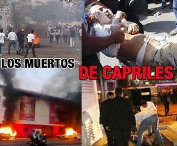 los muertos de capriles-Fidel Ernesto Vasquez