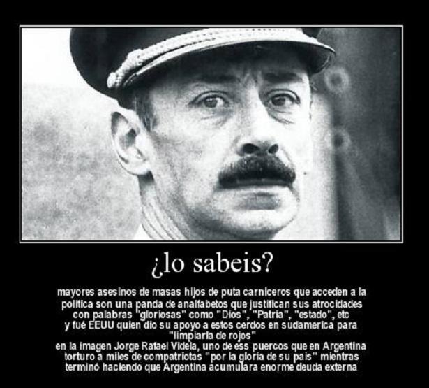 Videla asesino-Fidel Ernesto Vasquez