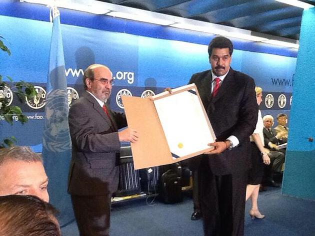 Nicolas Maduro reconocimiento de ONU-FAO-Fidel Ernesto Vasquez