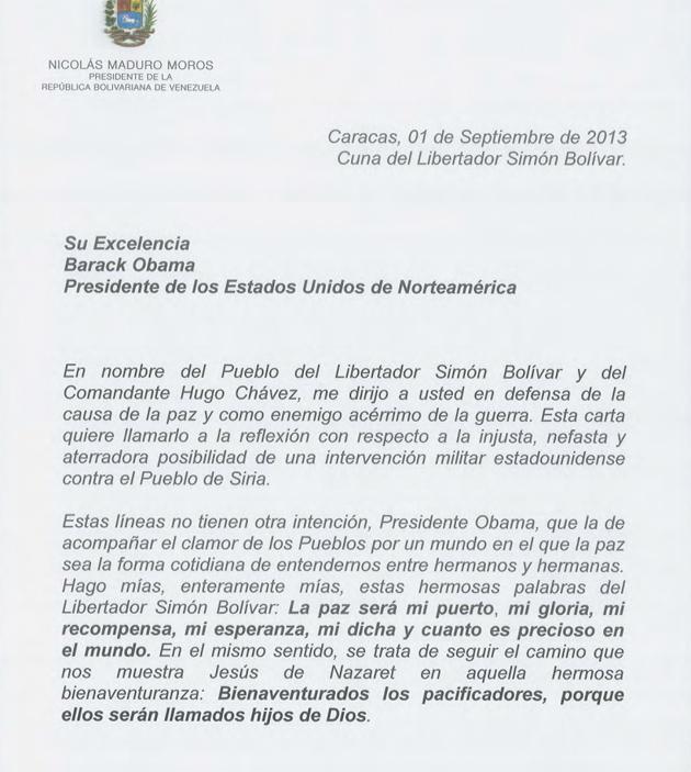 CARTA DEL PRESIDENTE NICOLAS MADURO A OBAMA 01-Fidel Ernesto Vasquez (1)