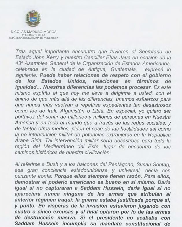 CARTA DEL PRESIDENTE NICOLAS MADURO A OBAMA 01-Fidel Ernesto Vasquez (2)