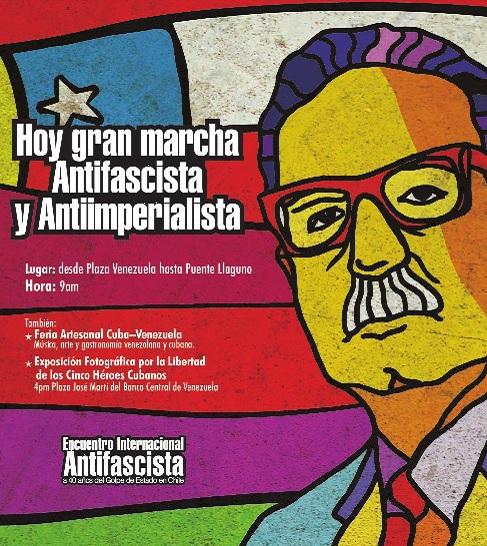 Marcha Antifascista-Fidel Ernesto Vasquez