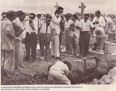 Exhumacion cadaver de Alberto Lovera-Fidel Ernesto Vasquez