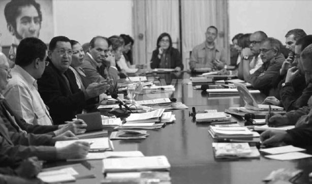 Reunion Consejo de Ministros Golpe de Timon-Fidel Ernesto Vasquez