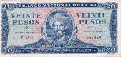 Billete cubano firmado por el Che-Fidel Ernesto Vasquez