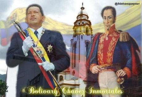 Hugo Chavez-Simon Bolivar-Fidel Ernesto Vasquez