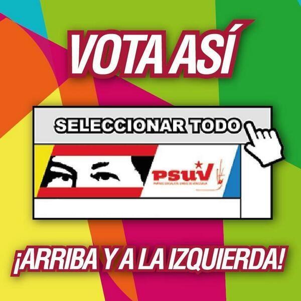 Votar por el PSUV-Fidel Ernesto Vasquez