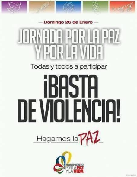 Jornada por la paz y por la vida-Fidel Ernesto Vasquez