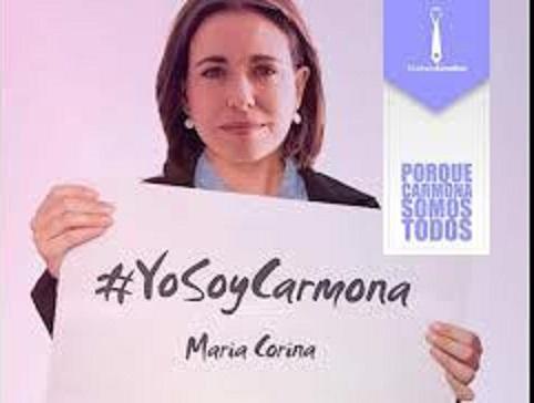 Maria Corina Machado-Yo soy Carmona-Fidel Ernesto Vasquez
