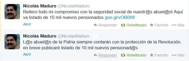 twitter Nicolas Maduro-Fidel Ernesto Vasquez