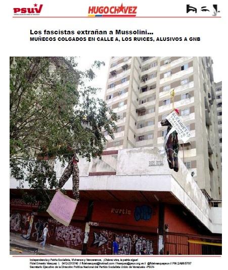 los fascistas extrañan a Mussolini-Muñecos alusivos a GNB-Fidel Ernesto Vasquez