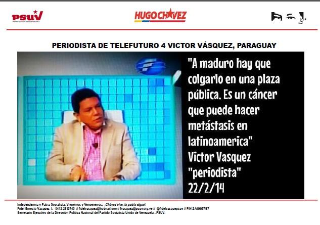 PERIODISTA VICTOR VASQUEZ-Fidel Ernesto Vasquez