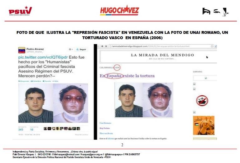 Unai Romano torturado por policía ESPAÑOLA en 2006 y dicen que ocurre hoy en Venezuela-Fidel Ernesto Vasquez