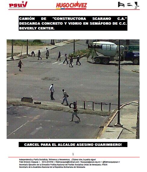 Camión de Constructora Scarano C.A. -Fidel Ernesto Vasquez