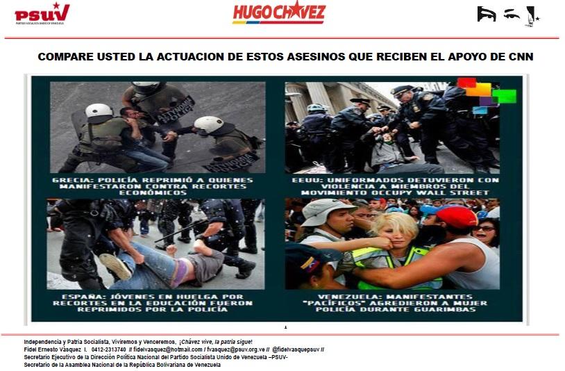 COMPARE USTED LA ACTUACION DE ESTOS ASESINOS QUE RECIBEN EL APOYO DE CNN-Fidel Ernesto Vasquez