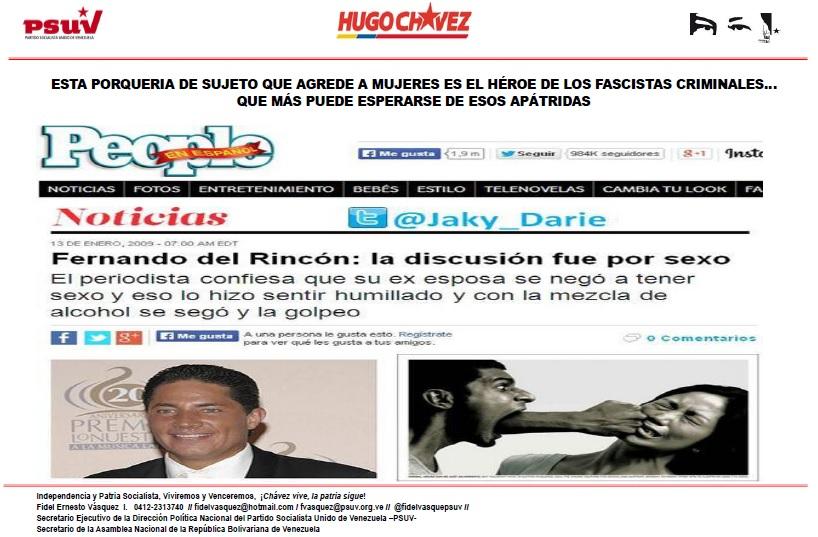 Fernando del Rincon-Fidel Ernesto Vasquez