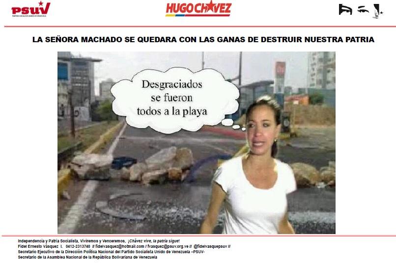LA SEÑORA MACHADO SE QUEDARA CON LAS GANAS DE DESTRUIR NUESTRA PATRIA-Fidel Ernesto Vasquez