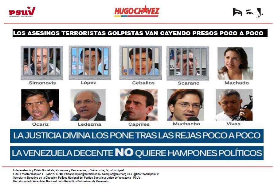 Terroristas asesinos presos-Fidel Ernesto Vasquez