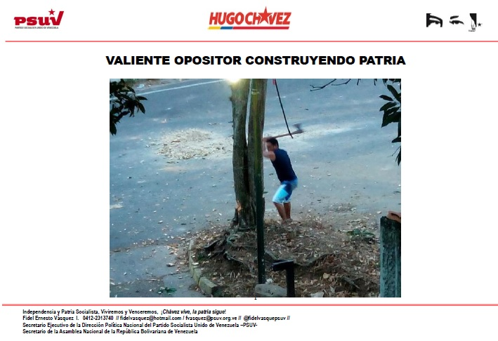 VALIENTE OPOSITOR CONSTRUYENDO PATRIA-Fidel Ernesto Vasquez