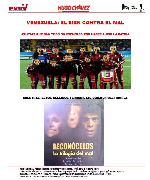 VENEZUELA.- EL BIEN CONTRA EL MAL