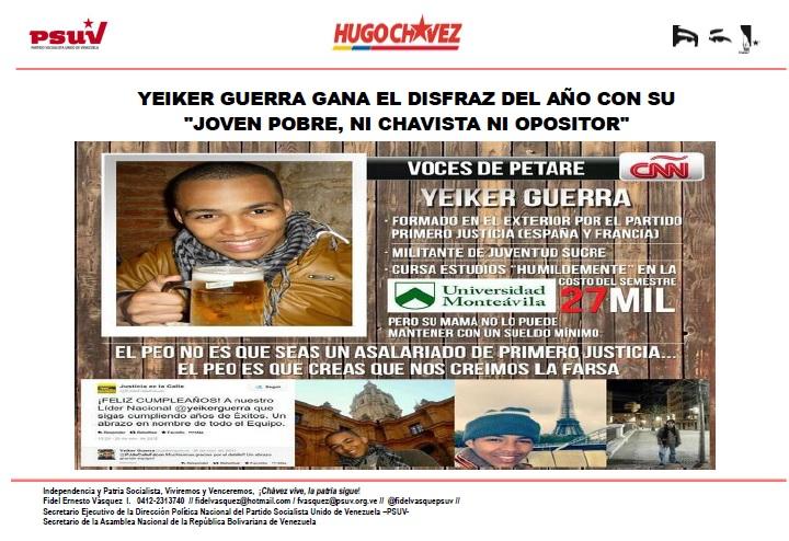 YEIKER GUERRA joven pobre  GANA EL DISFRAZ DEL AÑO-Fidel Ernesto Vasquez