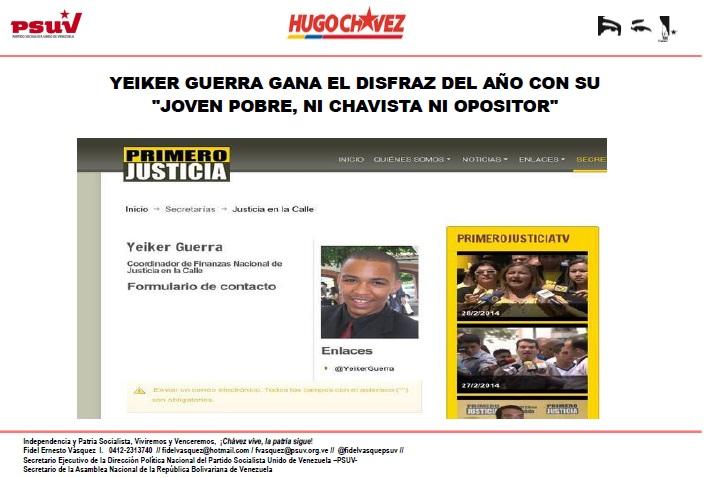 YEIKER GUERRA joven pobre-  GANA EL DISFRAZ DEL AÑO-Fidel Ernesto Vasquez