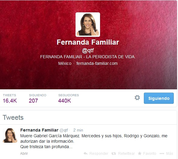 Fernanda Familiar-Fidel Ernesto Vasquez