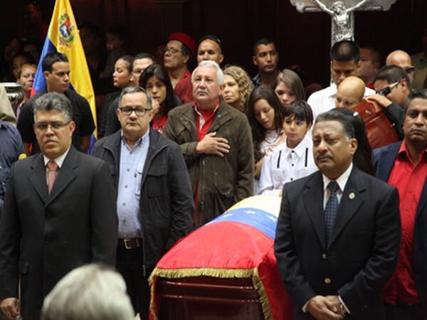 Honores a Eliecer Otaiza-Elias Jaua-Fidel Ernesto Vasquez