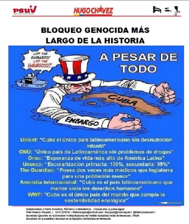 BLOQUEO GENOCIDA MÁS LARGO DE LA HISTORIA