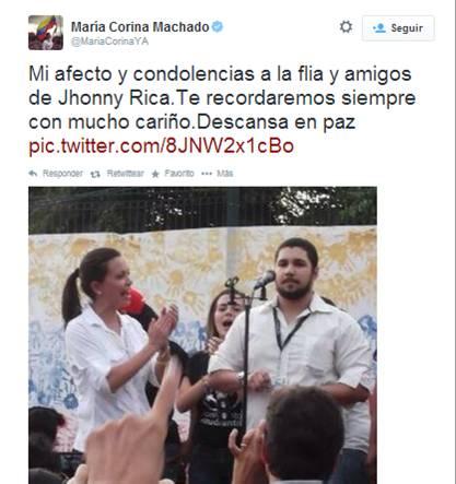 Maria Corina Machado- Fidel Ernesto Vasquez