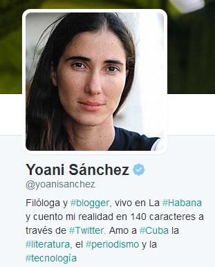 Yoani Sanchez-Fidel Ernesto Vasquez