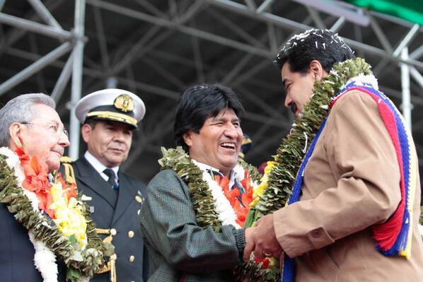 Raul Castro-Evo Morales-Nicolas Maduro-Fidel Ernesto Vasquez