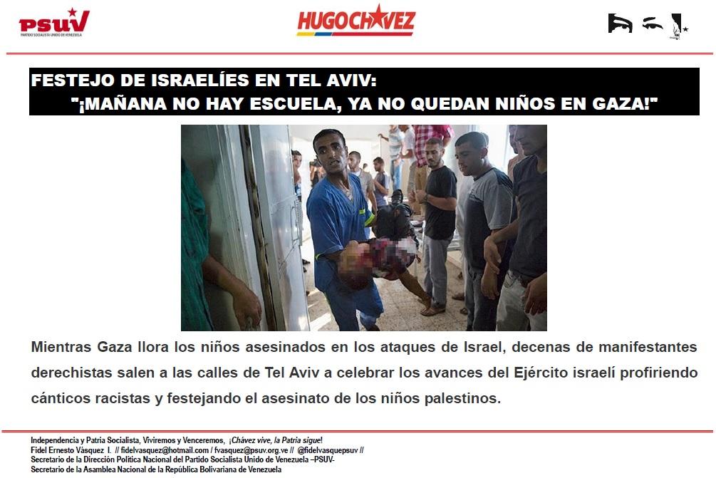 FESTEJO DE ISRAELÍES EN TEL AVIV.- MAÑANA NO HAY ESCUELA, YA NO QUEDAN NIÑOS EN GAZA