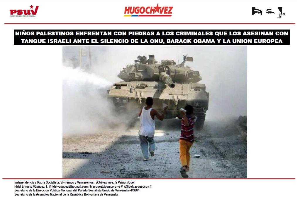 NIÑOS PALESTINOS ENFRENTAN CON PIEDRAS A LOS CRIMINALES QUE LOS ASESINAN CON TANQUE ISRAELI ANTE EL SILENCIO DE LA ONU, BARACK OBAMA Y LA UNION EUROPEA