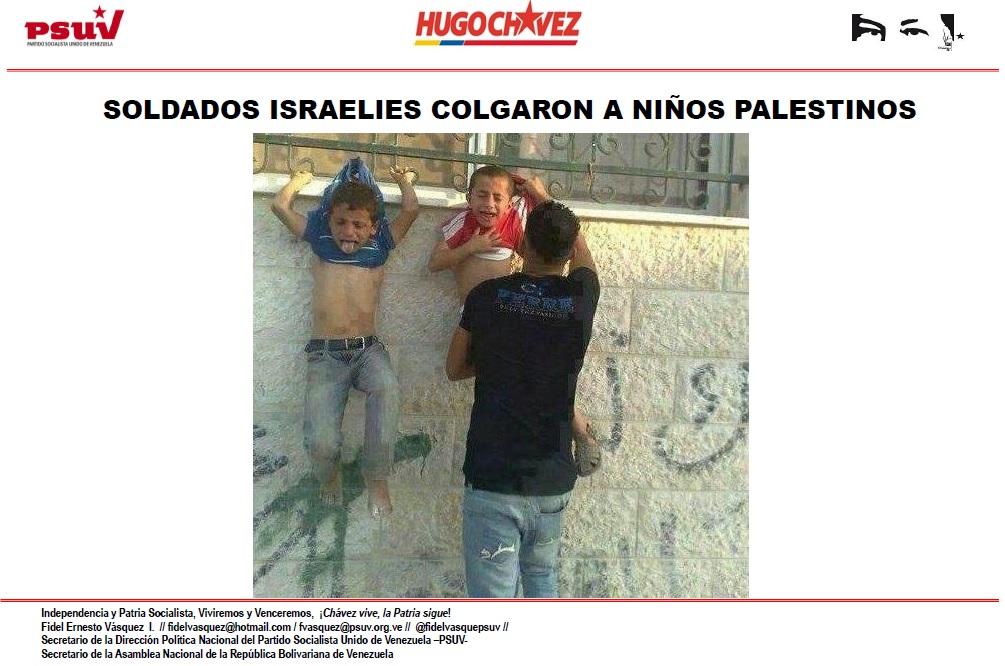 SOLDADOS ISRAELIES COLGARON A NIÑOS PALESTINOS
