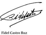 Firma del Comandante Fidel Castro-Fidel Ernesto Vasquez