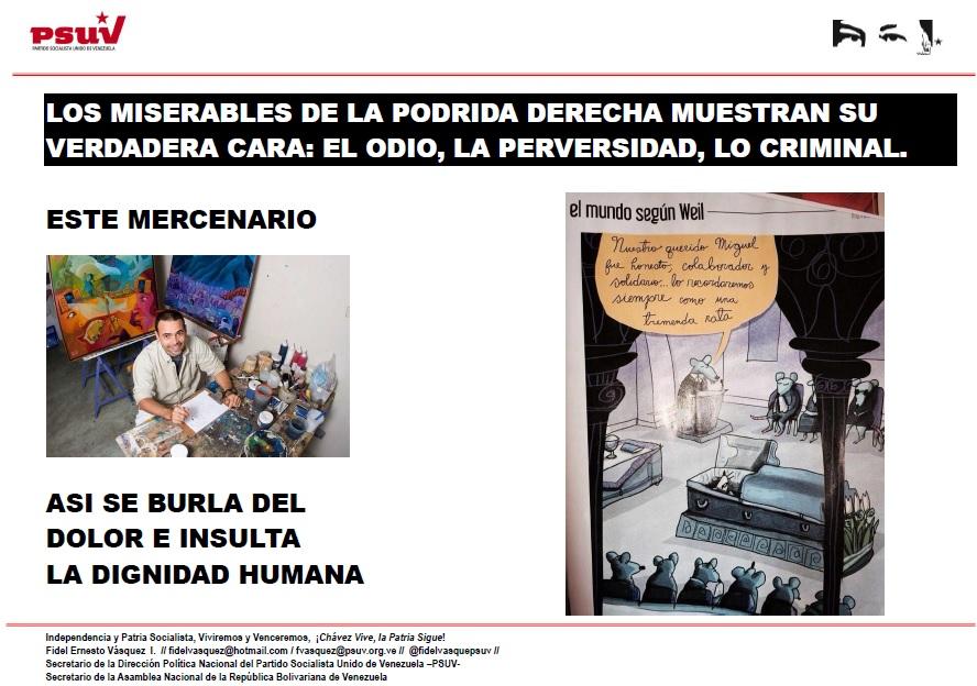 LOS MISERABLES DE LA PODRIDA DERECHA MUESTRAN SU VERDADERA CARA.-  EL ODIO, LA PERVERSIDAD, LO CRIMINAL.