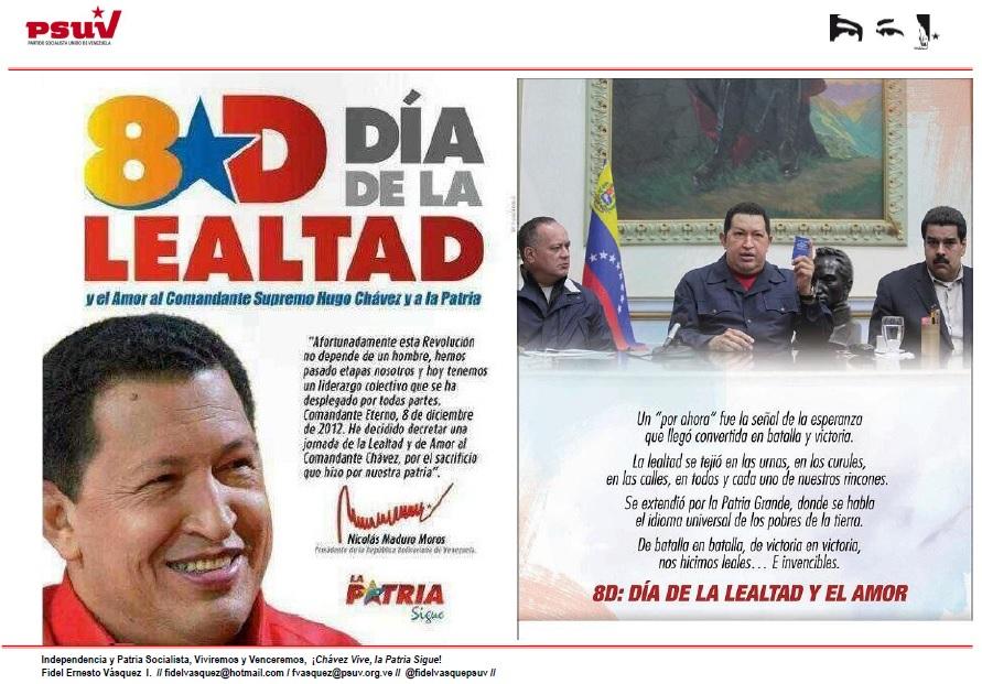 8D Dia de la ealtad y el amor al comandante-Fidel Ernesto Vasquez